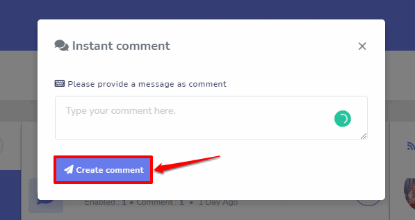Screenshot on Instagram Auto Comment Reply with SocialBot