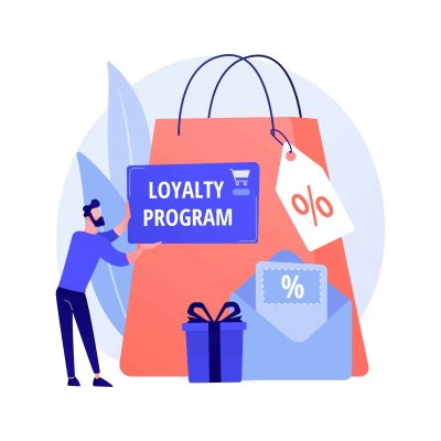 Seasonal sale discounts. Presents purchase, visiting boutiques, luxury shopping. Price reduction promotional coupons, special holiday offers. Vector isolated concept metaphor illustration